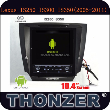New 10.4 inch Android LEXUS IS250 IS300 IS350 Car DVD Player