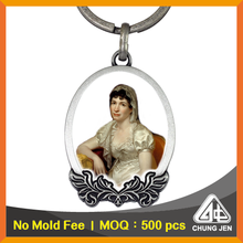 No Mold Fee Religious Image Metal Gallery Key Chain for Giveaways ideas