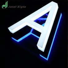 hot sell illuminated advertising signs mini channel letters acrylic led light letter