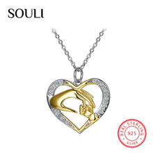 2018 Fashion 925 Sterling Silver Jewelry, Silver Chain Heart Pendant Necklace