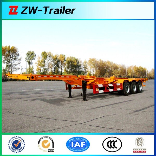 3 Axles Gooseneck Skeletal Container Trailer For 40ft or 20ft Container Transportation