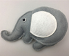 2017 Chinese homemade latest toy craze plush cute elephant christmas baubles mini doll felt elephant ornaments with red heart