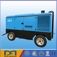 big power screw diesel mobile air compressor for sand blasting