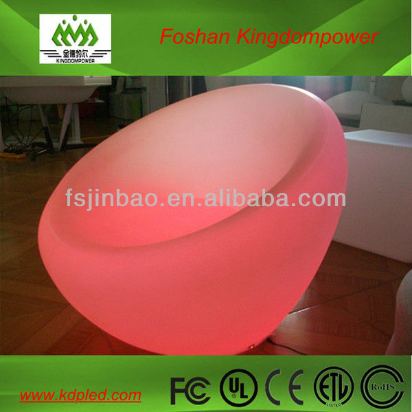 Universal living room furniture for decoration & lighting led plastic made sofa