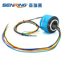High speed slip ring 1500RPM small ID 20mm OD56mm for 6 wires, 12 wires through hole