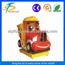 Dumper truck coin operated children electric swing machine to have fun