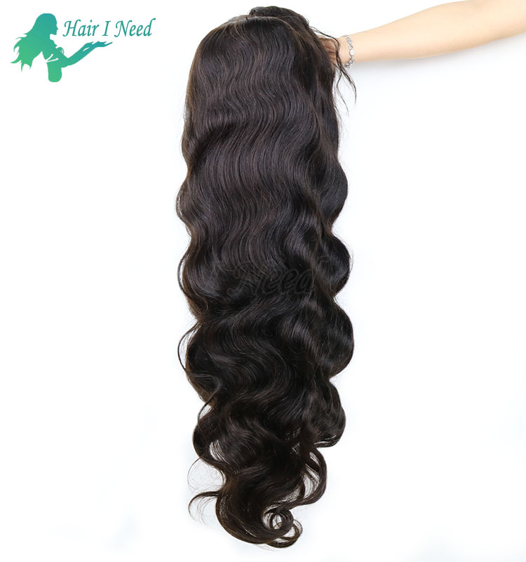 lace front wig Brazilian hair natural color 1b 100% human hair wig