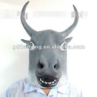 Adult Full Head Cow Mask, Bull Mask, Bufflo Head Mask, Crazy Party Mask