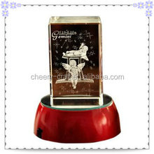Birthday Souvenir 3D Angle Crystal Cube Music Box