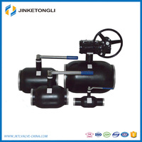 china supplier JKTL water providing system carbon steel flanged velan ball valve