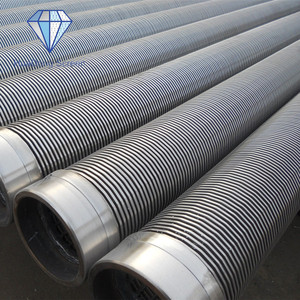 Stainless steel/carbon steel wedge wire filter pipe for water purification