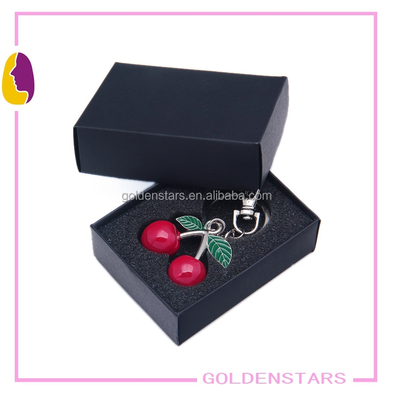 Cherry key chain with exquisite gift boxes promotional gifts key holder metal key ring key chain