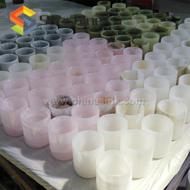 럭셔리 녹색 오닉스 촛불 컨테이너 제조 업체-캔들 홀더 -상품 ID ...