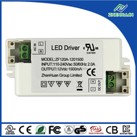 done led driver 12v 1500ma with high efficiency