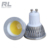 COB chip Glass cover 5W Dimmable led GU10