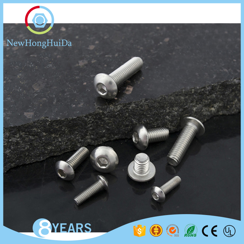 Hot selling M3 sizes 304 stainless steel hex socket pan head machine <strong>screw</strong>
