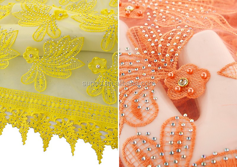 2017 newest arrival nice design african wedding dress fabric french net tulle lace fabric with stones beads lace