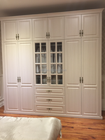 PVC laminated wooden bedroom wardrobe furniture