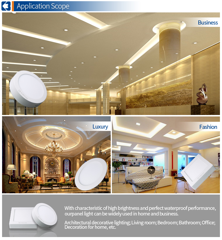 15W White Color Ultra-thin SMD 2835 Round LED Ceiling Panel Light