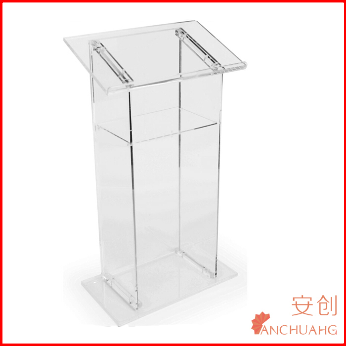 Acrylic Offering Boxes : Clear church acrylic large floor standing tithing box