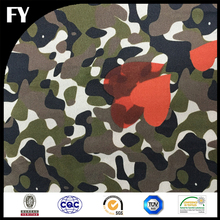 Custom quantity assured digital printed 12mm camouflage silk fabric