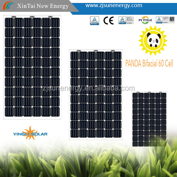 Yingli the China Top 10 manufacture TwinMax 60 cell Bifacial mono 290w solar panel the best price