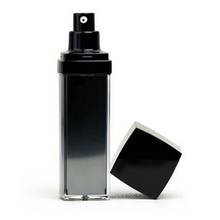 50ml Black Square Cosmetic Airless Pump Bottle for Skin Care