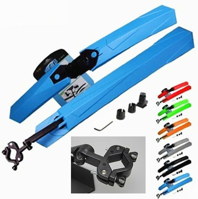 New High Quality Colorful Bicycle Mountain Bike Fender Accessories Many Colors are Available - Blue