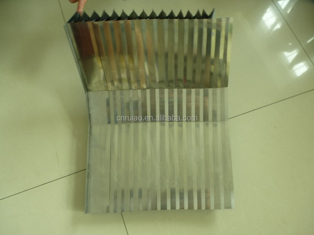multi-shaft stainless steel accordion bellows cover for machining centre