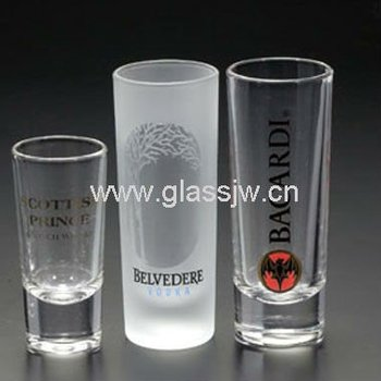 clear and frosted shot glass