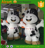 Outdoor infaltable cow cartoon character, inflatable advertising, inflatable ground balloon for sales