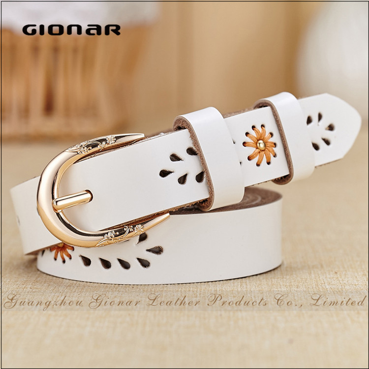 High Quality Flower Rope Beads Buckle Honest Strap Leather Utility Belt
