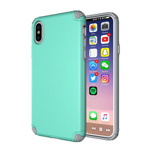 Factory Free Sample Magnetic Holder 2 in 1 TPU+PC Hybrid Shock Proof Cellphone Armor Case Cover for iPhone X
