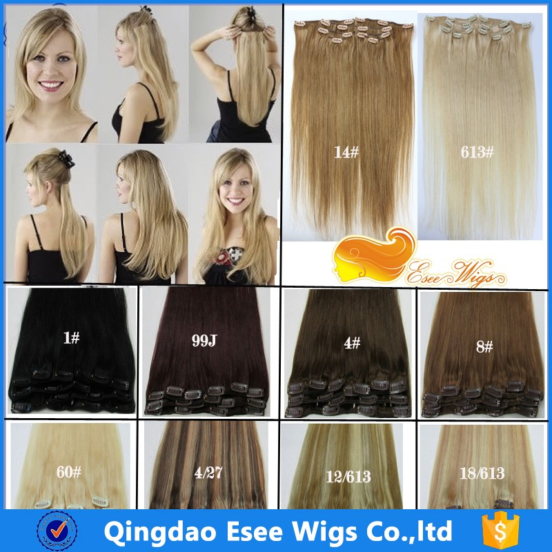 Best Price Unprocessed Remy Human Hair Clip Hair Extension in stock