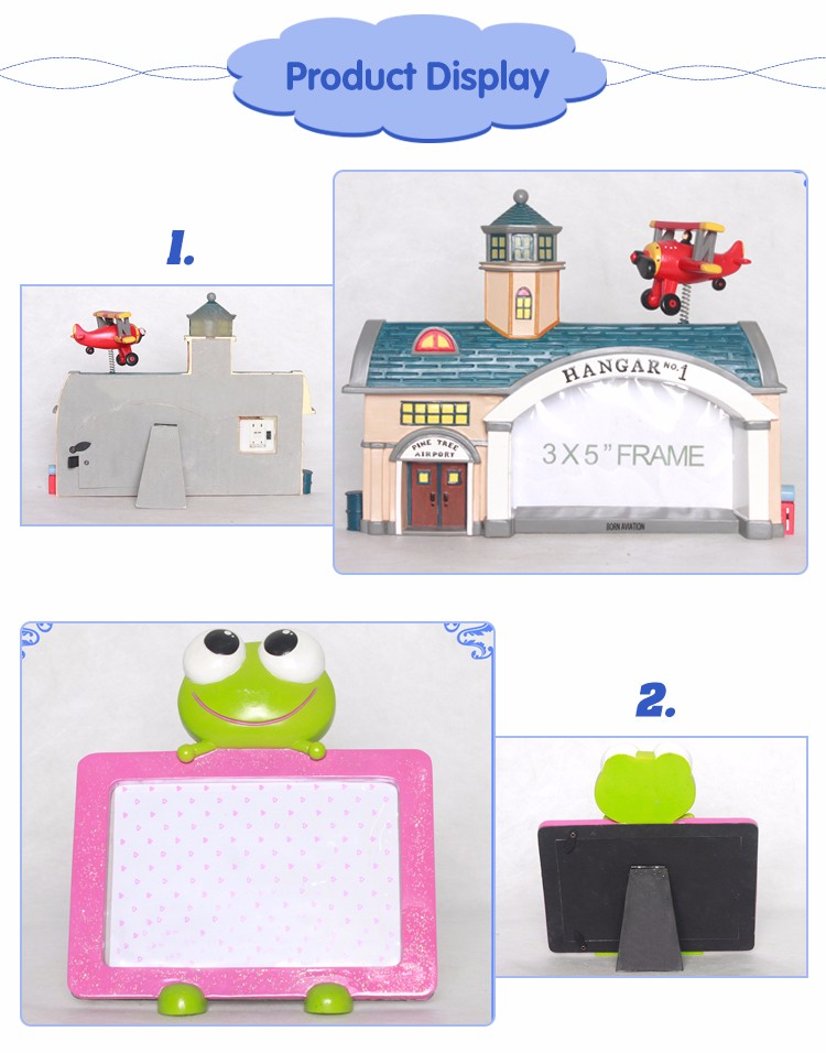 Good Quality Souvenirs Resin Photo Frame for kids room