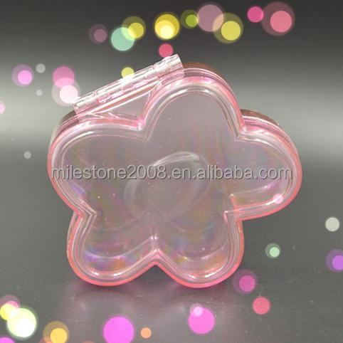 GPPS Plastic fillable Flower Shape Candy Container Jewel Box Kids Jewelry Storage Case