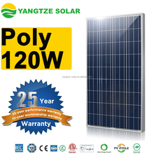 Yangtze high quality 120 watt solar panel