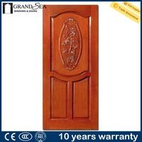 Panama market solid wood 3 panel french doors apartment entry door for garden