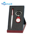 promotion metal and wooden pen gift set