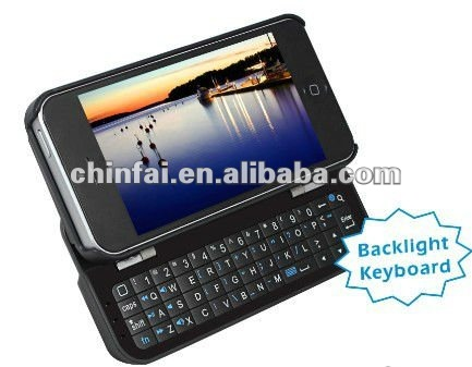 CE LFGB ROHS FCC Sliding and standing bluetooth keyboard for iPhone 5