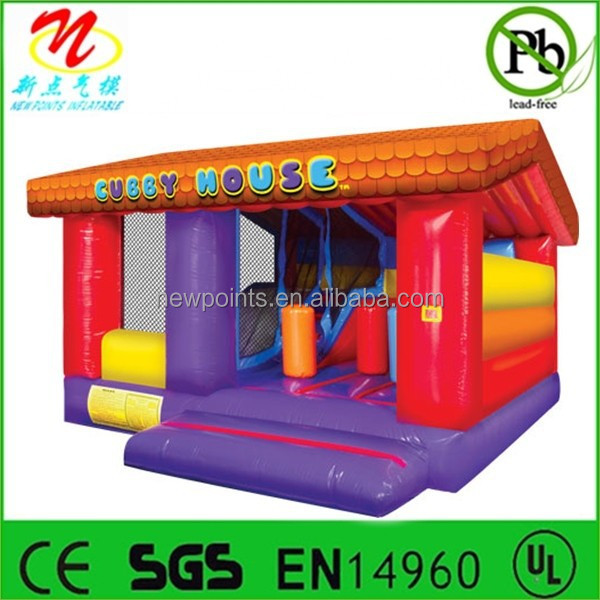 Cheap inflatable cubby bounce house combo for party rentals
