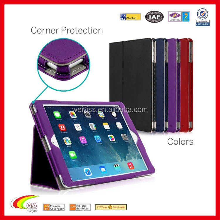 leather case cover for ipad air 2 case for ipad 6 with auto sleep/wake up function