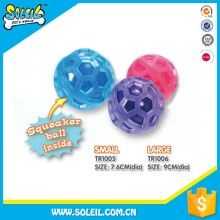 Newest Products Non-Toxic Flexible TPR Chewing Squeaker Ball Pet Toys