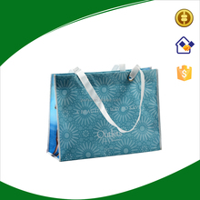 Full color printing tote bag,non woven laminated bag with metal eyes handles