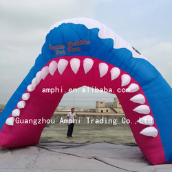 Advertising inflatable arch for sale,inflatable shark arch