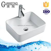 GT-401C one faucet hole bathroom lavabo Washbasin ceramic table top basin