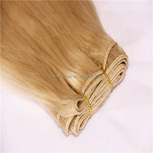 Top Quality Best Selling First Lady Hair 100%Hand tied Virgin Indian Remy Hair Weft European Blonde Virgin Hair