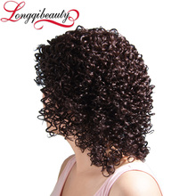 Malaysian Human Hair Short Curly Wig For Black Women Afro Kinky Curly Wig