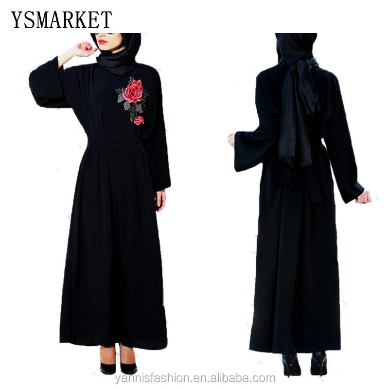 Venta al por mayor black abaya-Compre online los mejores black abaya ...