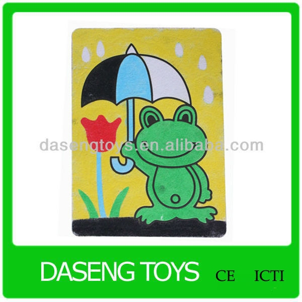 2016 new animal design sand art, oem diy sand painting card, sand art picture
